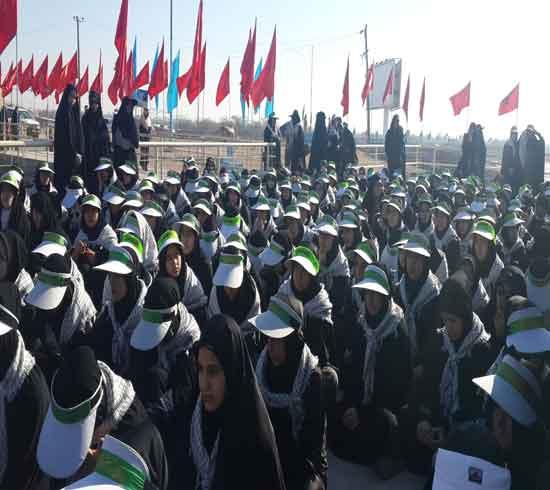 دبیرستان نمونه دولتی حضرت آمنه همدان راهیان نور